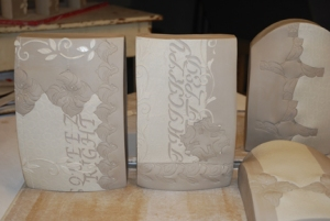 Kieffer greenware tiles