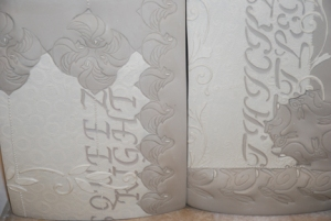Kieffer greenware tiles detail