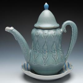 Kristen Kieffer Teapot and saucer