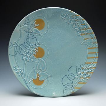 Kristen Kieffer Large plate Frost Victorian Moroccan