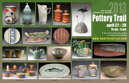 Asparagus Valley Pottery Trail poster / flyer 2013