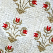 Antique Carolina lily applique quilt detail c. 1880