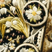 Court Suit embroidery detail, c. 1770-85