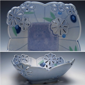 Kristen Kieffer Pierced fruit basket (square)