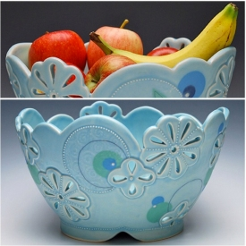 Kristen Kieffer Pierced fruit bowl