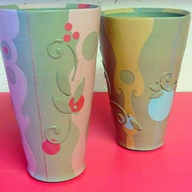 Kristen Kieffer Arabesque mod tumblers in progress