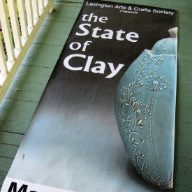 Poster girl, The State of Clay exhibition, MA, Kristen Kieffer Grande jar