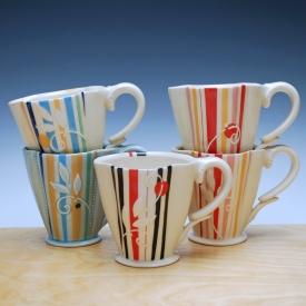Kristen Kieffer Deluxe Clover cups, 'Super Stripes'