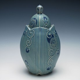 Covered jar by Kristen Kieffer
